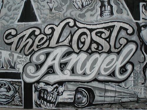 Angels graffiti in Los Angeles