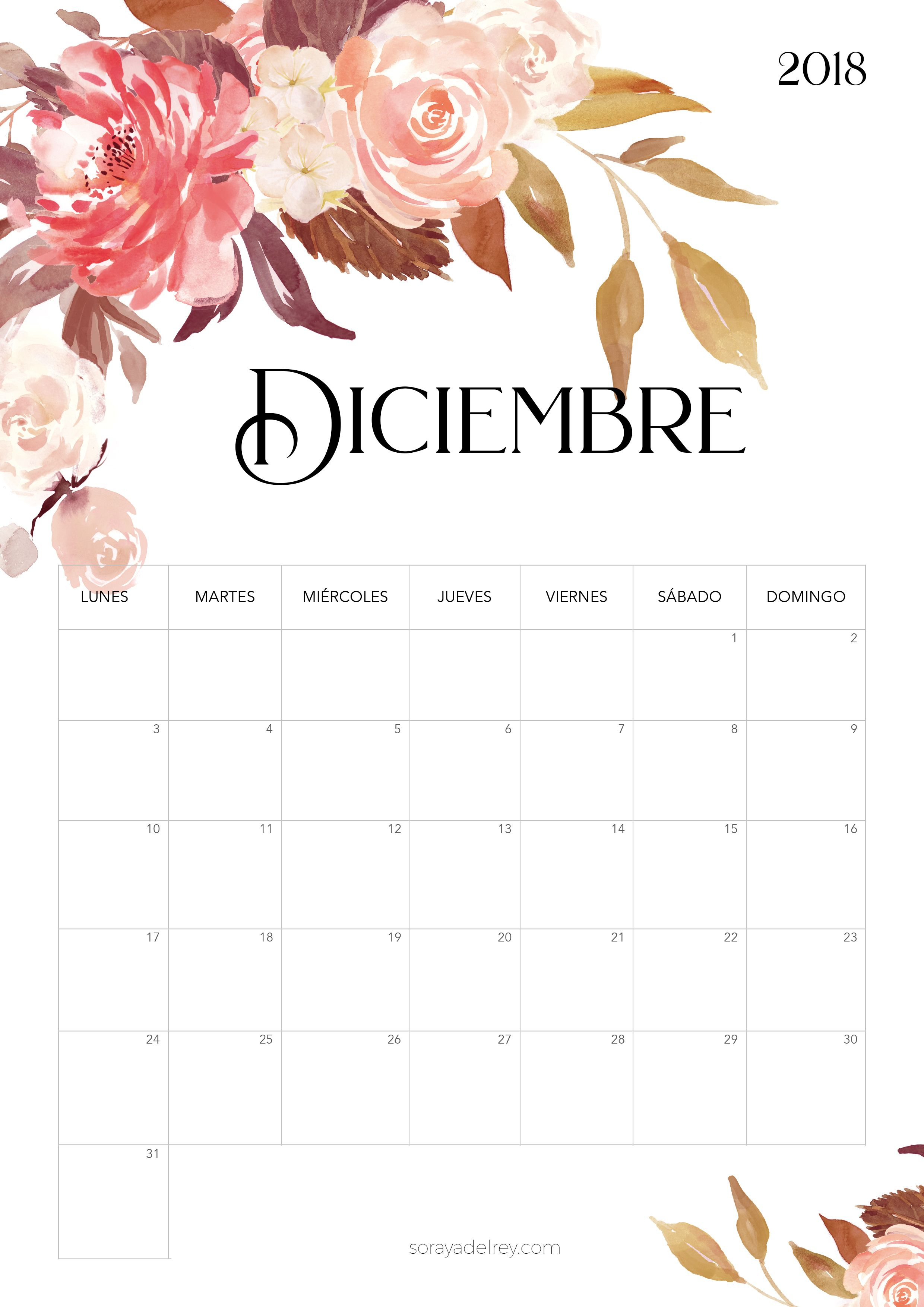 Calendario para imprimir 2018 - 2019