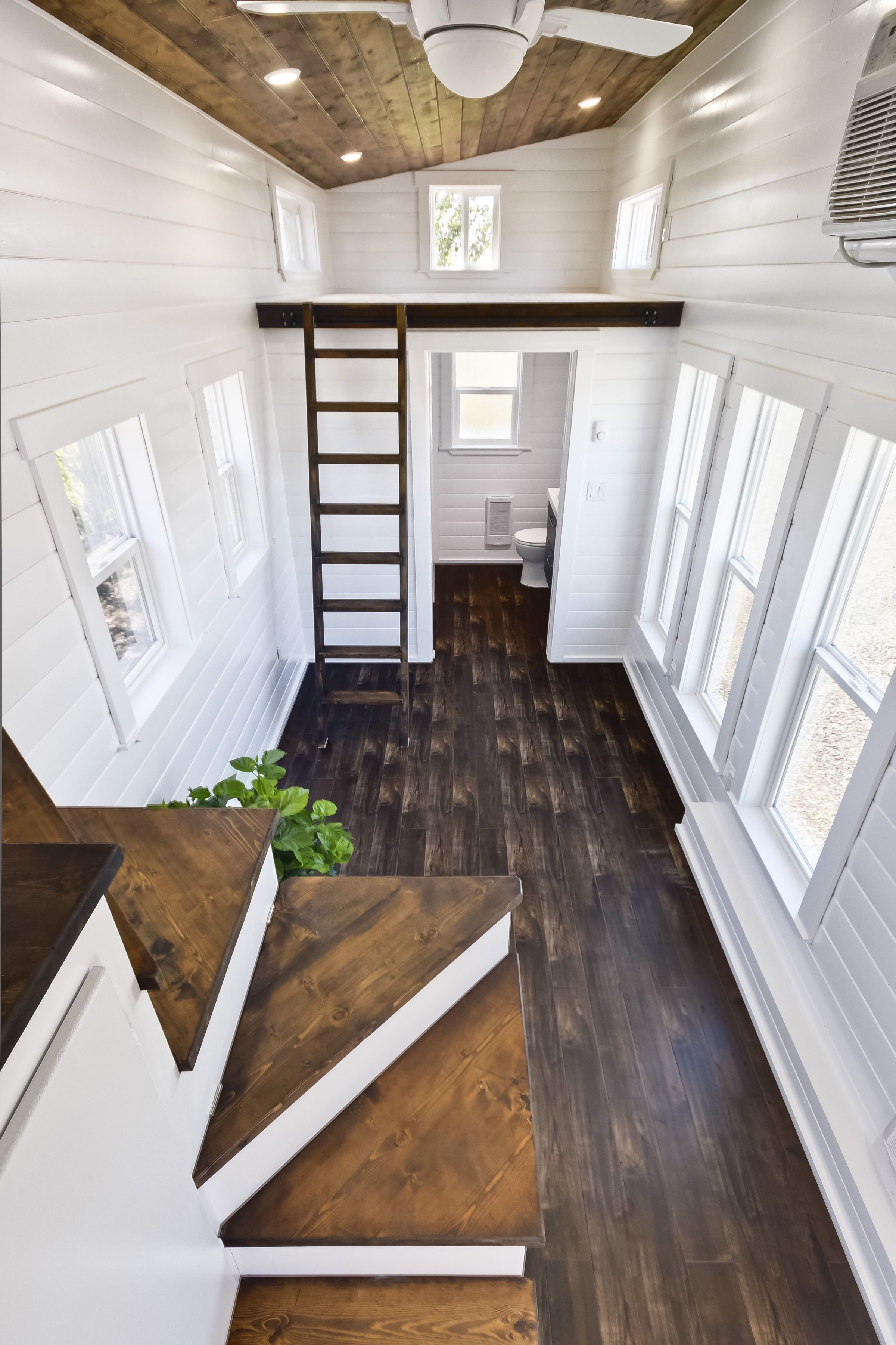 Built by mint tiny house company this tiny home is a - Small house interior paint ideas ...