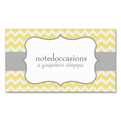 Yellow chevron modern business cards this is a fully customizable yellow chevron modern business cards colourmoves Gallery