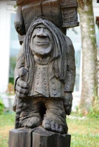 One of dozens of HUGE trolls in Mt  Horeb, Wisconsin