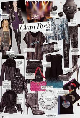 glam rock for ELLE