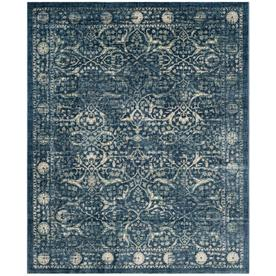 Safavieh Evoke Piccolo Navy Beige Indoor Area Rug Common 10 X 14 Actual 10 Ft W X 14 Ft L Evk512d 10 Area Rugs