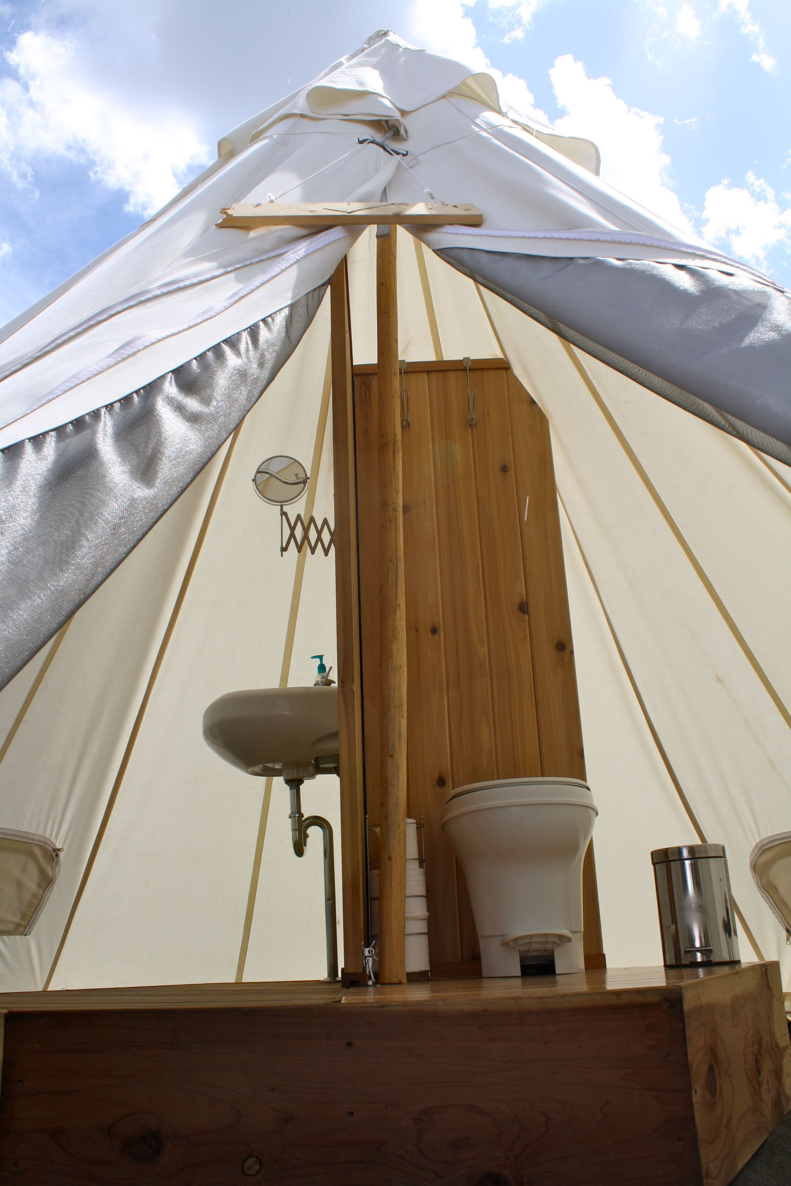 Our Tipi Bathrooms At Yellowstone Under Canvas Under