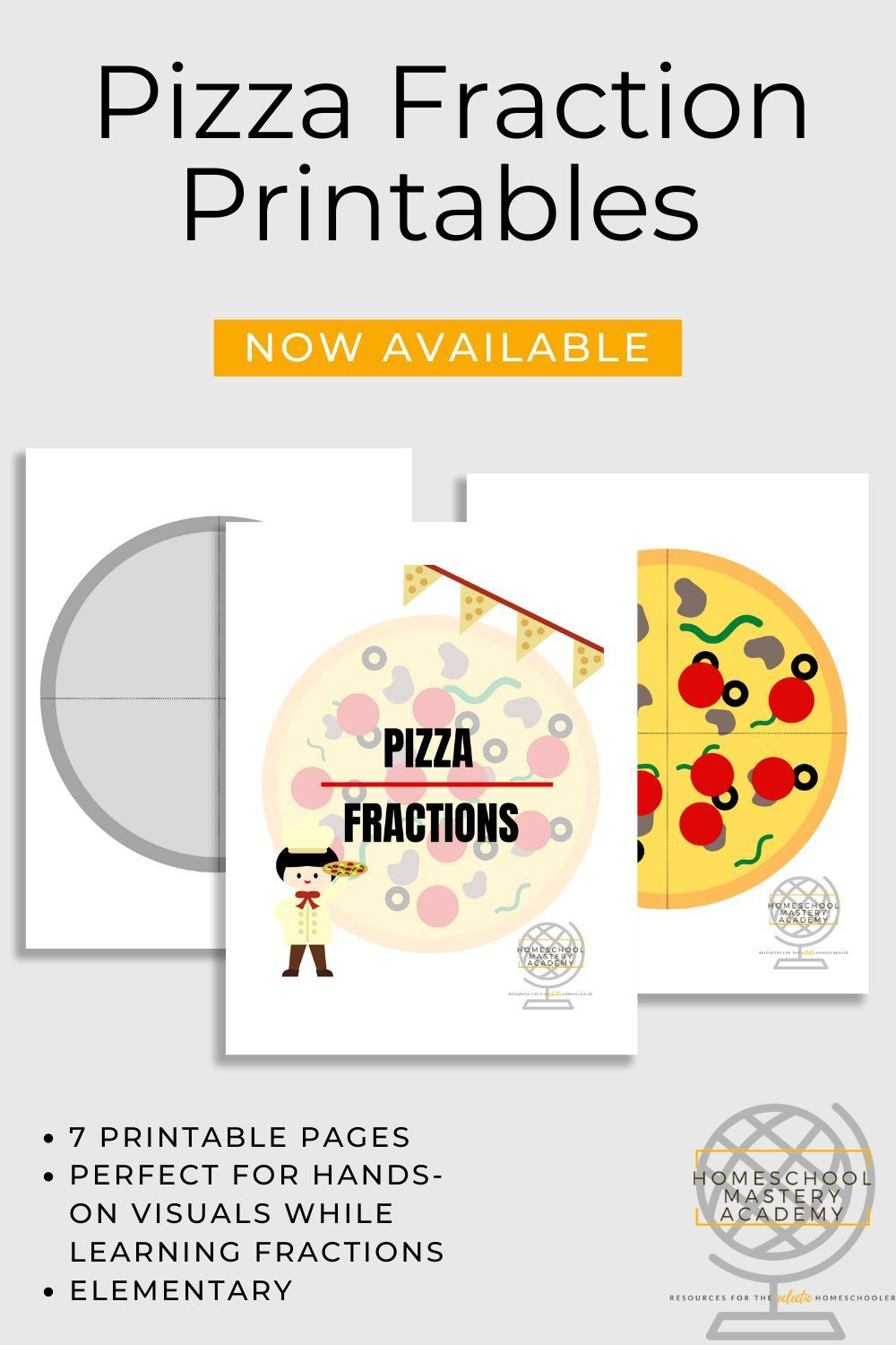 Pizza Fraction Printables For Elementary Hands On In 2020 Learning Fractions Fraction Printables Homeschool Math [ 1500 x 1000 Pixel ]