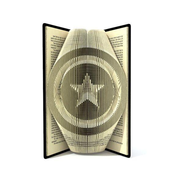 Book art Book folding guitar head Musician Handmade Unique gift for music fan