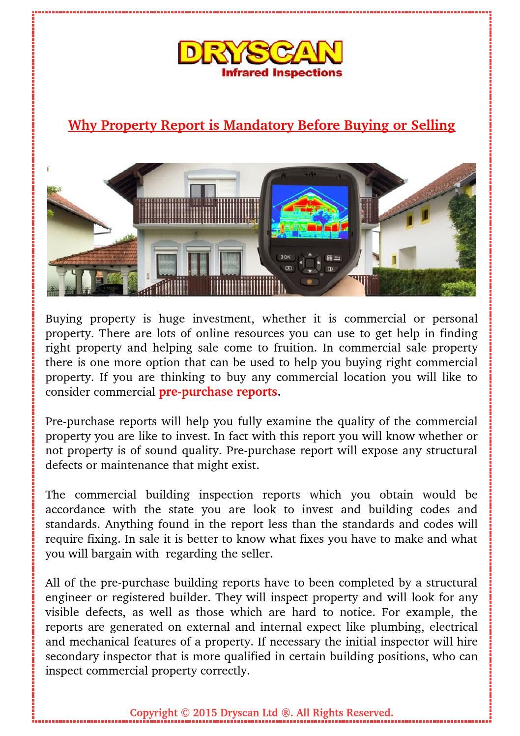 Why Property Infrared Inspection Report Is Mandatory