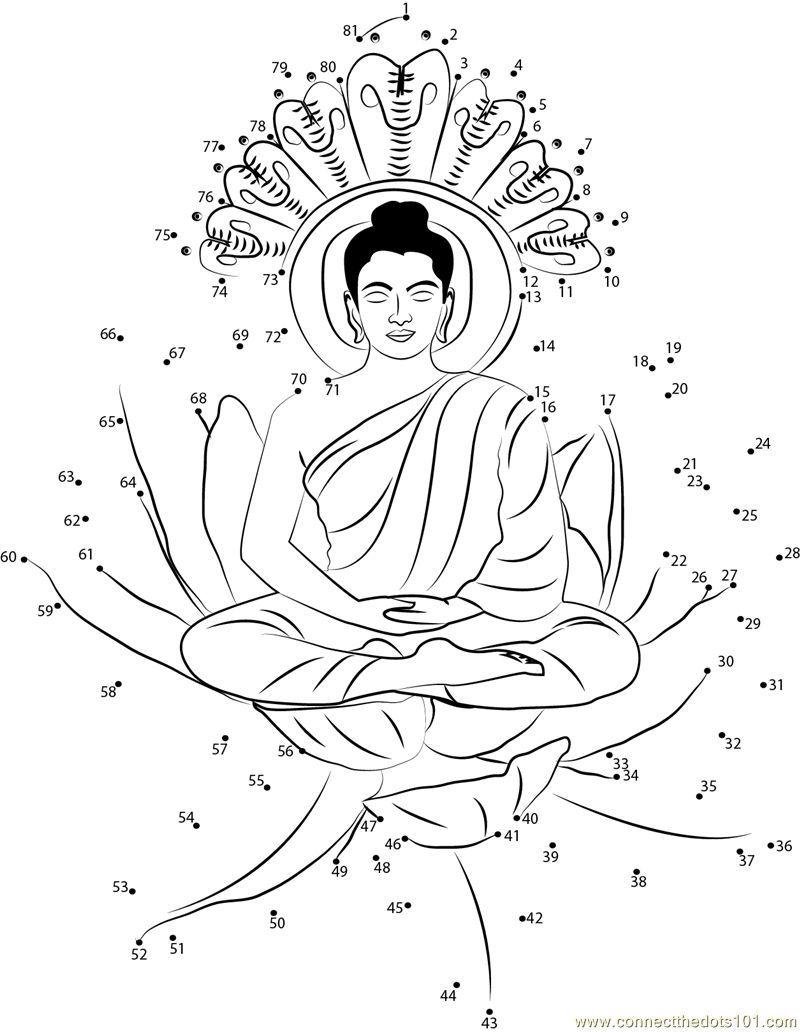 Buddha-Coloring-Page (31).jpg (800×1032) | От точки к точке ...
