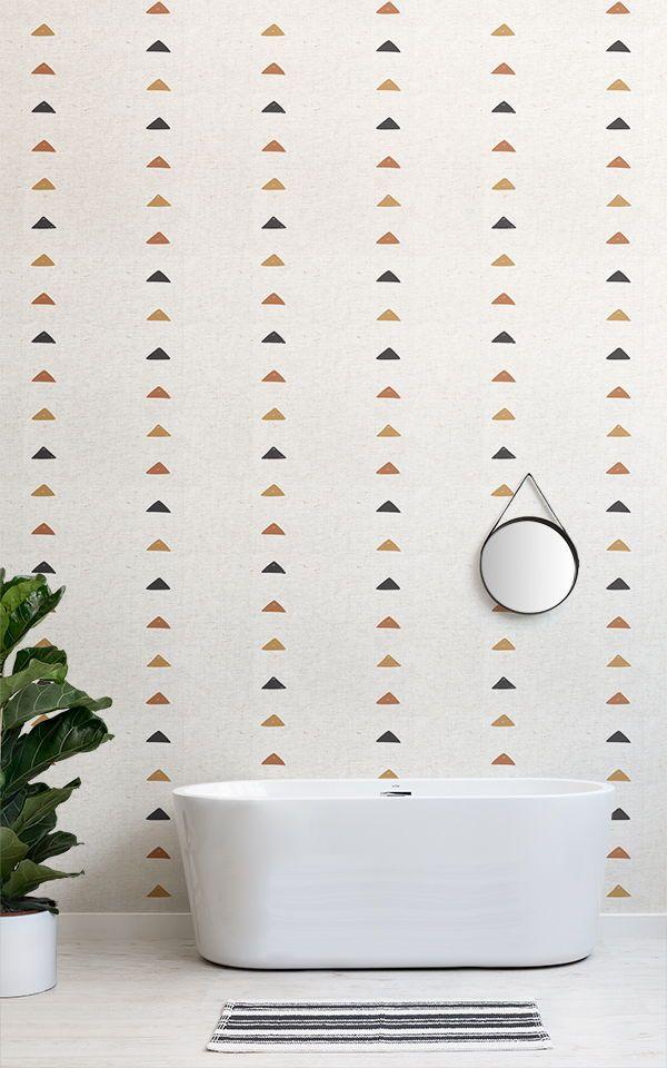 Best Tribal Triangles Wallpaper Mural Salle De Bain Simple 400 x 300