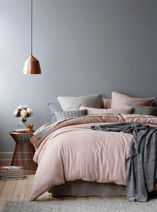 Decorar con cobre y rosa Cobre, Decoración y Dormitorio - decoracion de interiores dormitorios