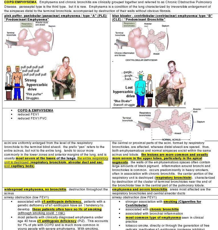 my summary of COPD/emphysema Emergency nursing