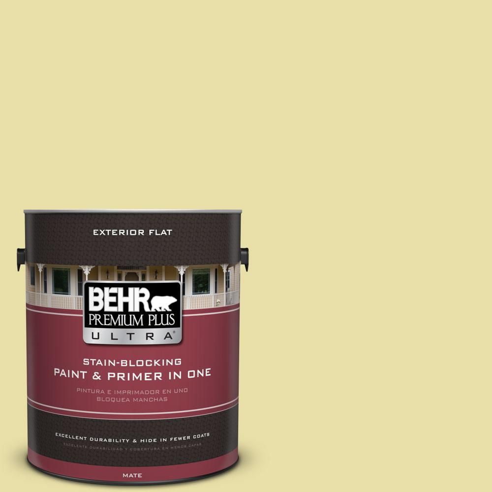 BEHR Premium Plus Ultra 1-Gal. No.PPU8-12 Refreshing Tea Flat Exterior Paint