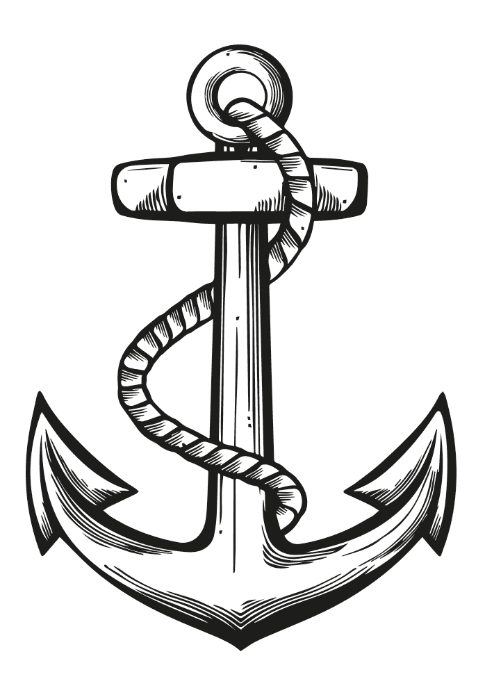 Vintage Anchor Drawing Ahoy Me Hearties Lets Get Nautical