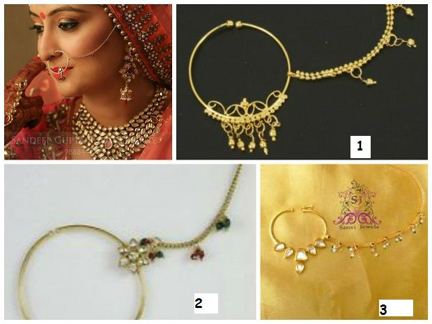 nose ringsIndian bridal Jewelry styles Nose rings by