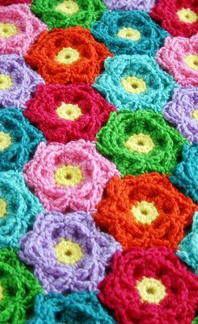 Blanket Crochet Pattern Waikiki Wildflower Colorful Art Is