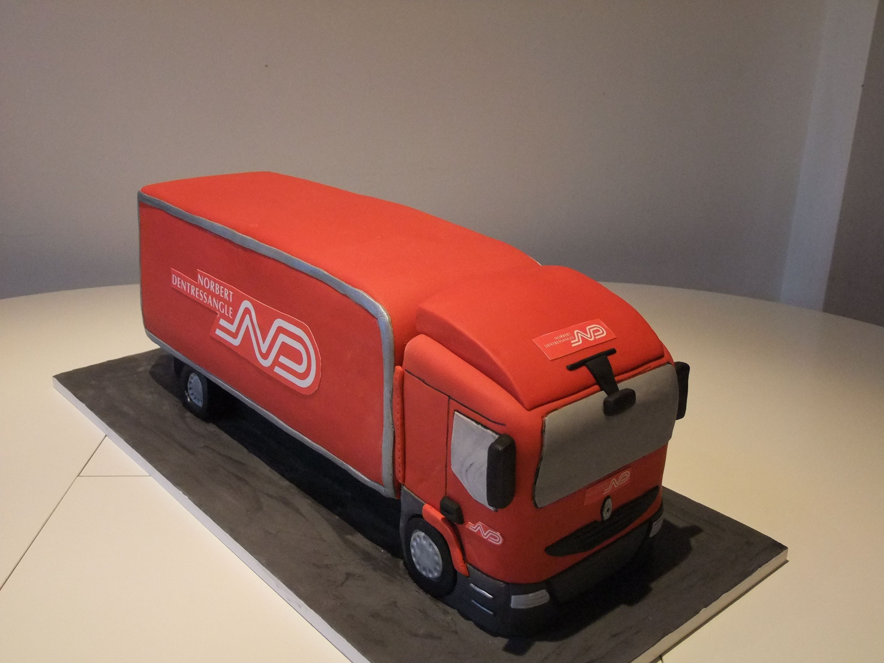 Dentressangle Red Truck Lorry HGV Corporate Celebration Cake
