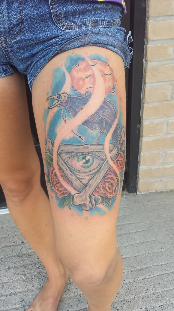 all seeing eye and dead crow