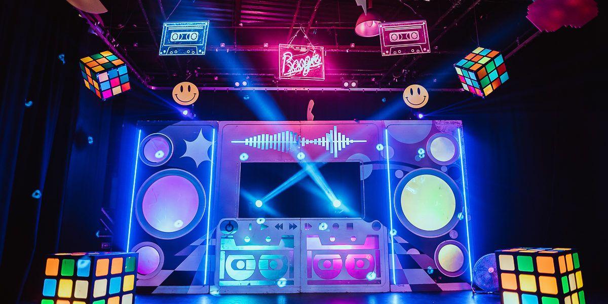 Retro Neon Disco Visual Architects in 2020 Disco