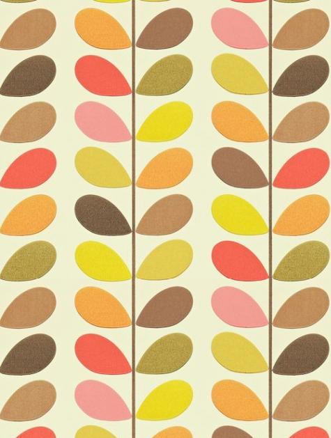 Multi Stem Harlequin wallpaper, Orla kiely, Designer