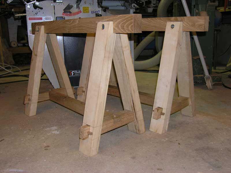 Realisation treteaux de menuisier woodworking projects