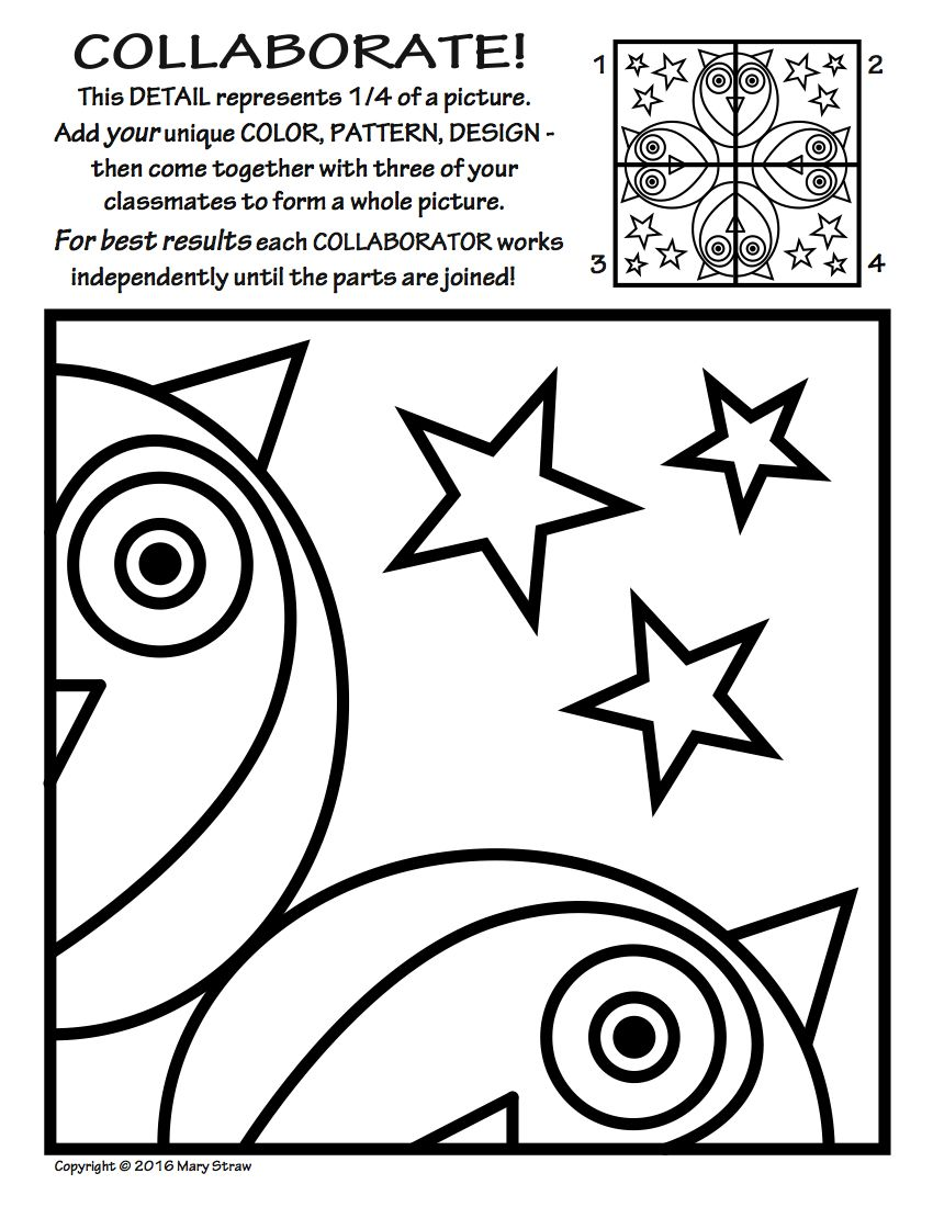 Radial Symmetry COLLABORATIVE Activity Coloring Pages | Fired Up in ...
