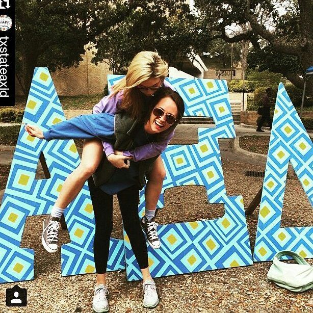 Because we're super excited about the new yard letters that we're designing and painting for @txstateaxid we thought we should also celebrate last year's letters!! #Repost @txstateaxid ・・・ #ServiceSaturday #alphaxidelta #TXST19 #TxStateRecruitment #gogreek #axid #100DaysofAlphaXi