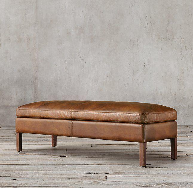 Sorensen Leather Ottoman Bench | Restoration Hardware