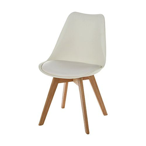 Charles Jacobs Style Side Chair With Solid Oak Legs In White Mid