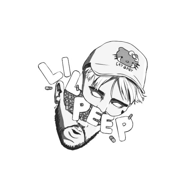 lil pump coloring pages | Pin by mikayla begeal on peep in 2019 | Lil peep hellboy ...