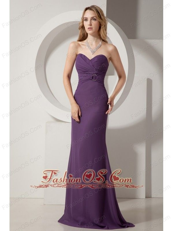 Dark Purple Junior Prom Dress Ruch Column Sweetheart Brush Train Chiffon-   109.89 http   www.fashionos.com discount prom dress online  82d8cf4af8e5