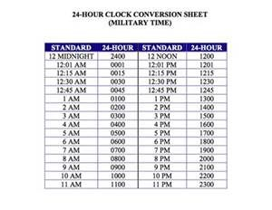 Military Time Conversion Chart   Yahoo Image Search Results