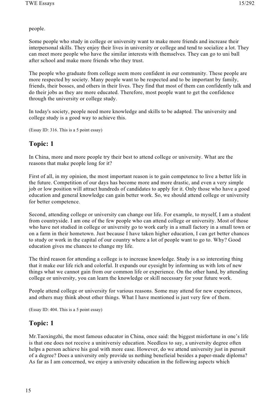 185 Toefl Writing Twe Topics And Model Essays