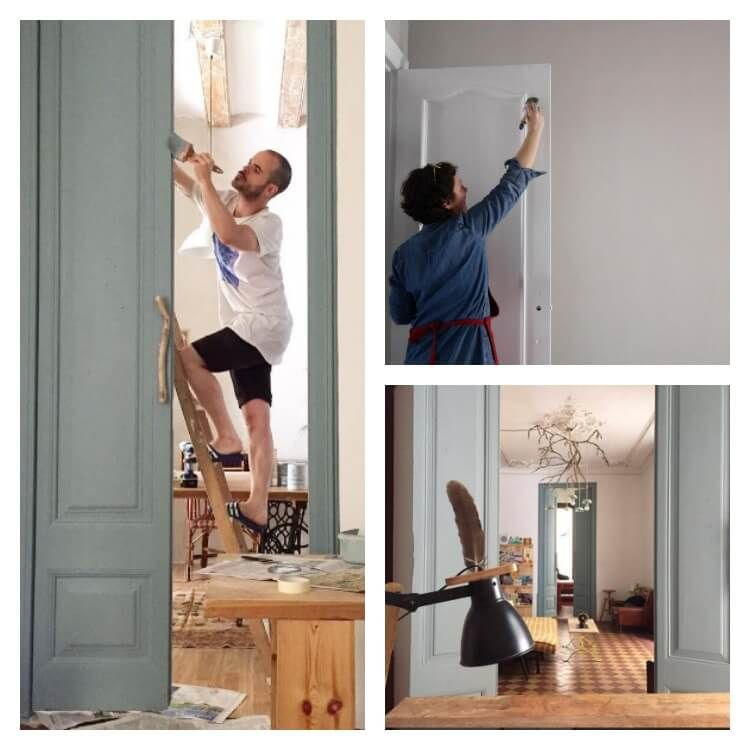 C mo pintar las puertas de casa 4 formas para hacerlo t - Lacar muebles a pistola ...