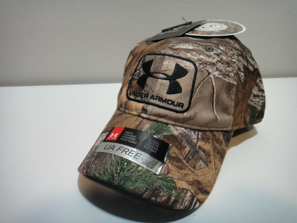 Under Armour Realtree Xtra Mens Heatgear Free Fit Camo Hat Size Xl 2xl Underarmour Hat Sizes Fitted Hats Under Armour