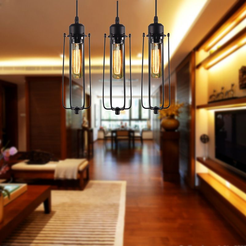 Industrial French Retro Lights Vintage Lamp Warehouse Style Lighting Edison Chandelier E27 (no lamp)