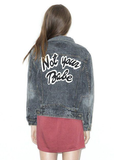 High Heels Suicide | Not Your Babe Denim Jacket | NYLON SHOP