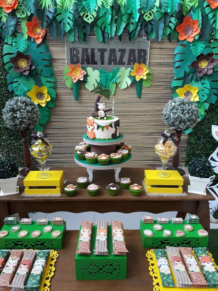 Jungle Animal Birthday Party See More Party At Catchmyparty Com Catchmyparty Partyid Safari Birthday Party Jungle Theme Birthday Party Jungle Theme Birthday