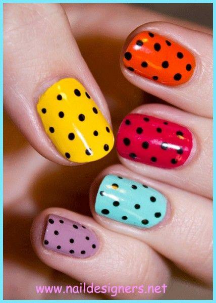 Colorful Short Nail Designs. Perfect for summer! #summer #nailart #allnatural #nailpolish www.sumbody.com