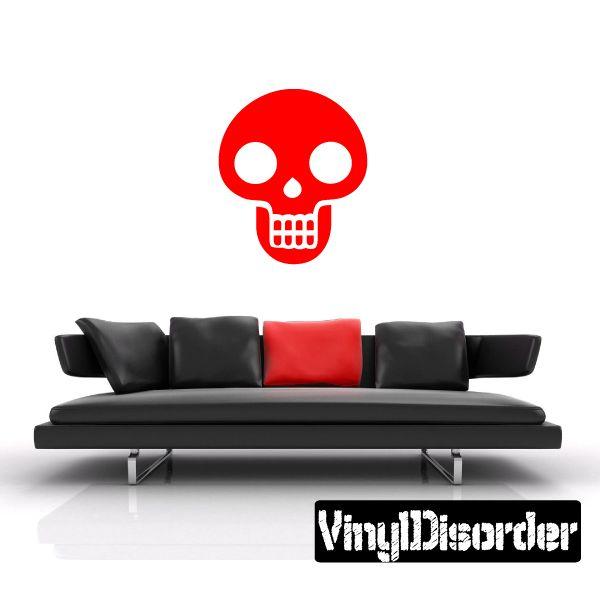 Halloween Skull Wall Decal - Vinyl Decal - Car Decal - AL112