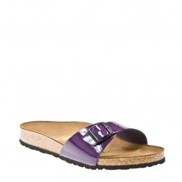 Birkenstock Madrid Women Purple Patent Birko Flor Sandals