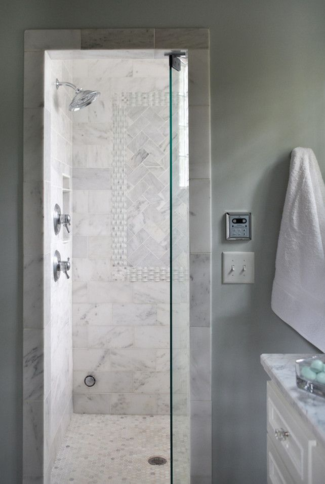 Steam Shower Shower Bathroom Shower Tiling This Custom Steam Shower Offers Bright Light A Custom S Transitional Bathroom Transitional Decor Bathroom Design