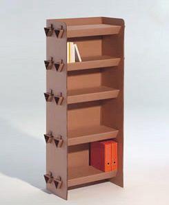 Modelos de muebles reciclables kraft okupakit cart n for Estantes de carton