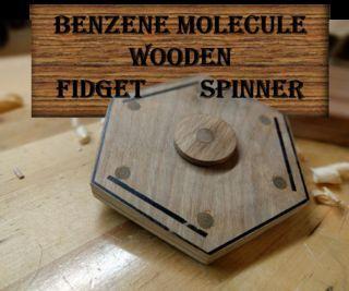 inventionhardware.com La Molécula De Benceno De Madera Fidget Spinner
