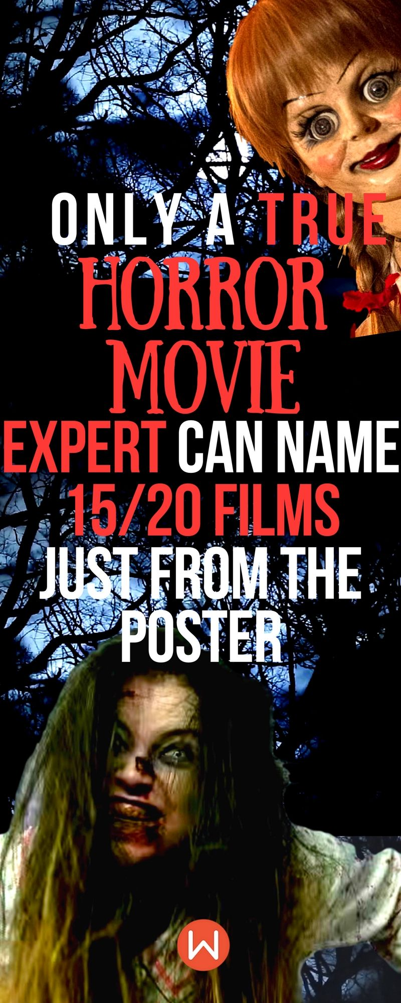 Only A True Horror Movie Expert Can Name 15/20 Films Just