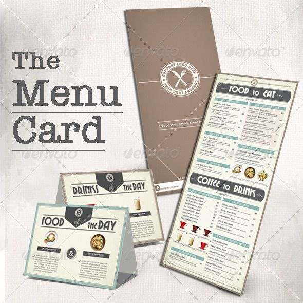 Menu Book for Coffee Shop Menu book, Menu printing and Menu - coffee shop brochure template