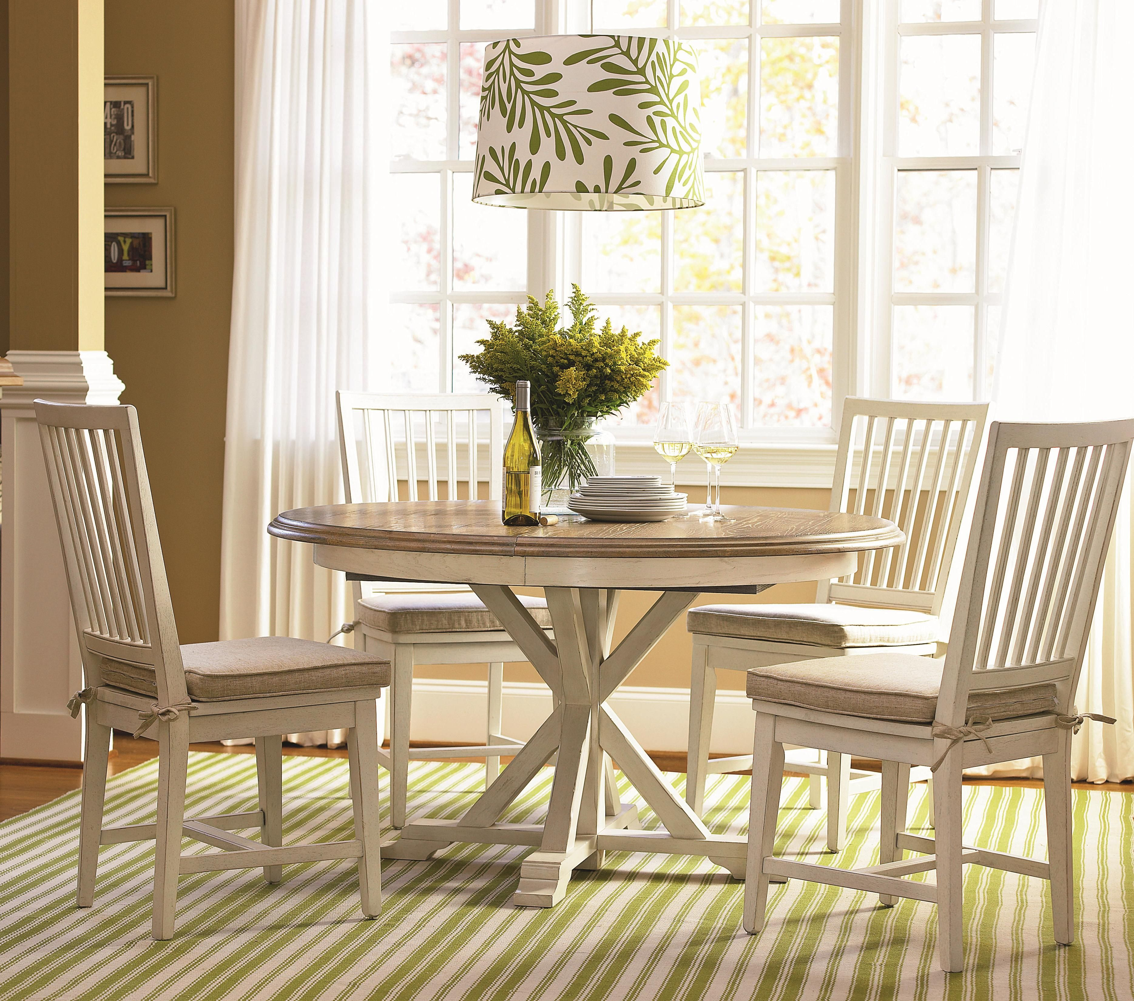 Curated 5 Piece Dining Set With Garden Breakfast Table And Slat