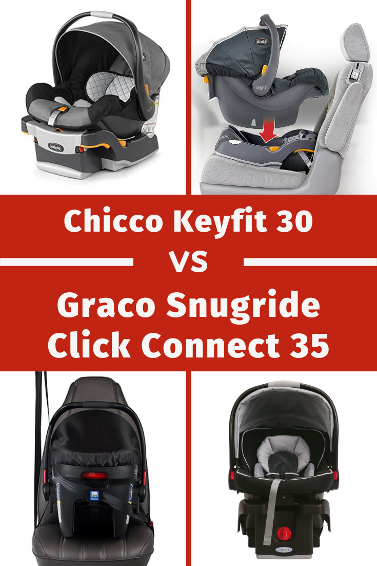 Infant Seat Vs Safety Seat Chicco Keyfit 30 Infant Car Seat Vs The Graco Snugride 35