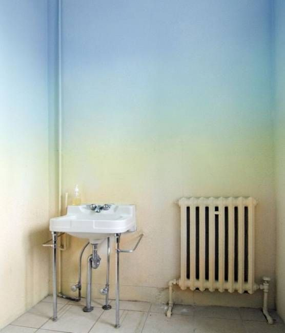 Modern Wall Painting Ideas Watercolor And Ombre Painting - Ombre wall painting technique
