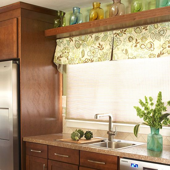 5 Fresh Ideas For Kitchen Window Treatments: Quick And Easy Kitchen Updates