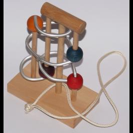 Kleine Trickbox, Knobbelspiel, Fädelspiel, Denkspiel